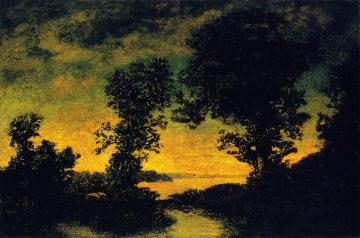 Outlet Of A Mountain Lake Artwork by Ralph Albert Blakelock