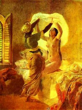 In a Harem Artwork by Karl Pavlovich Bryullov