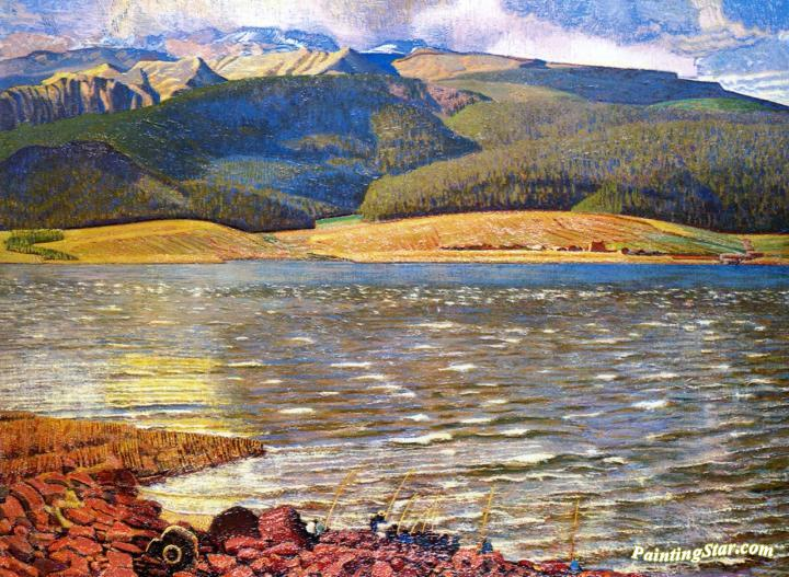 eagles nest lake new mexico artwork by ernest l