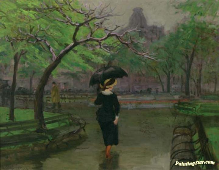"Poster Print /""Spring Rain New York/"""