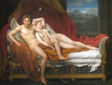 Cupid And Psyche Artwork by Jacques Louis David