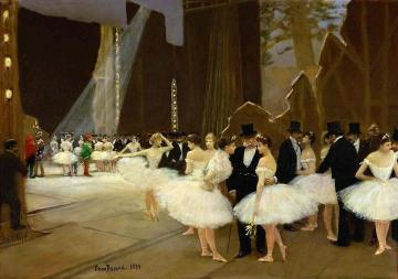 In The Wings At The Opera House Artwork by Jean Georges Beraud