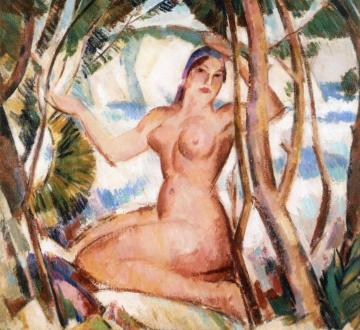 Nude and Cliff Artwork by John Duncan Fergusson