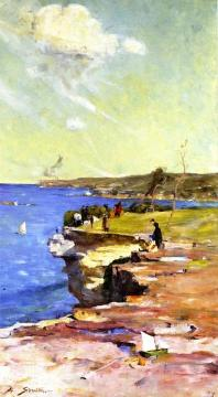 The Blue Pacific Artwork by Sir Arthur Streeton