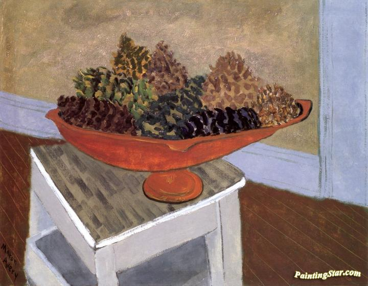 Pine Cones Artwork by Milton Avery