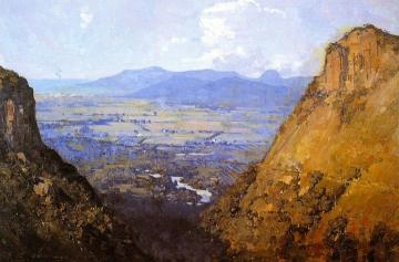 The Barron Gorge And Sugar Plains Artwork by Sir Arthur Streeton
