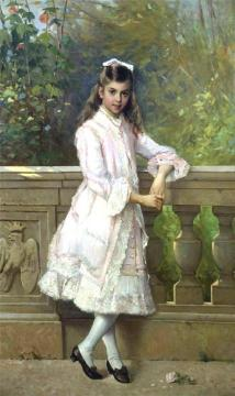Portrait of Anna Maria Borghese Artwork by Vittorio Matteo Corcos