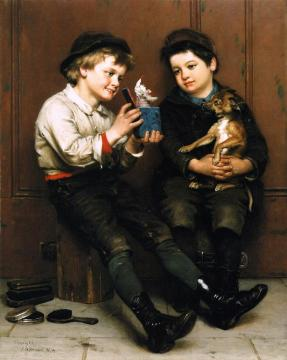 A Surprise Party Artwork by John George Brown