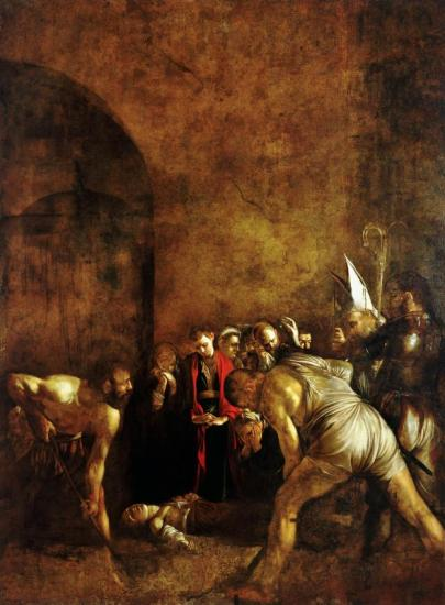 The Burial of St. Lucy Artwork by Caravaggio
