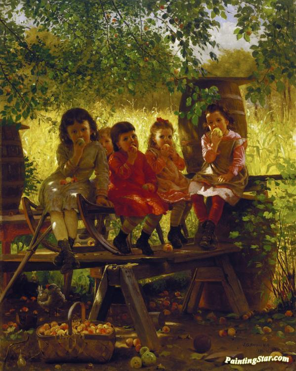 The Cider Mill Artwork by John George Brown