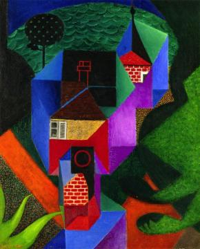 Cubist House by the Water Artwork by Jean Metzinger