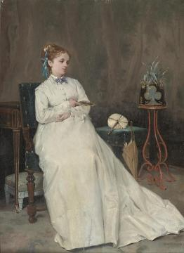 Contemplation Artwork by Auguste Toulmouche