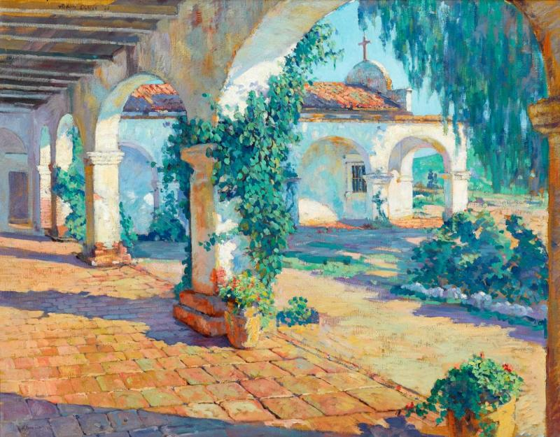 Mission Cloisters, San Juan Capistrano Artwork by Alson Skinner Clark