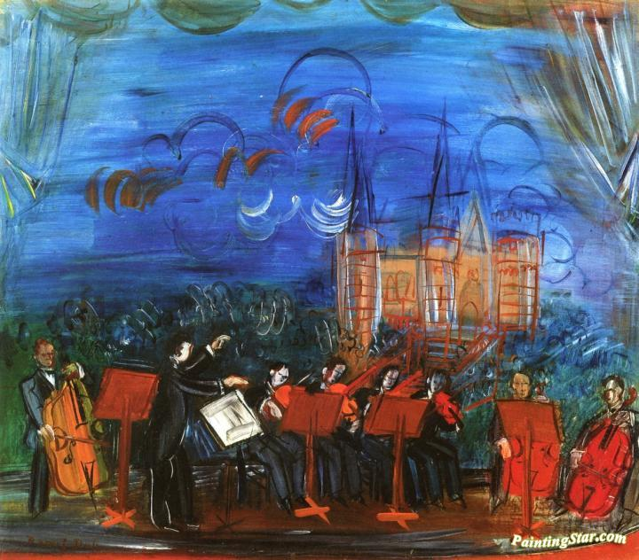 Blue Orchestra Artwork By Raoul Dufy Oil Painting Amp Art