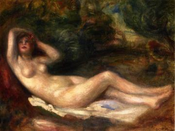 Nude Study Artwork by Pierre Auguste Renoir