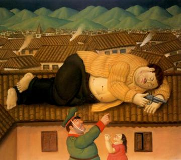 Pablo Escobar Dead Artwork by Fernando Botero