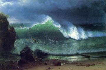 Emerald Sea Artwork by Albert Bierstadt