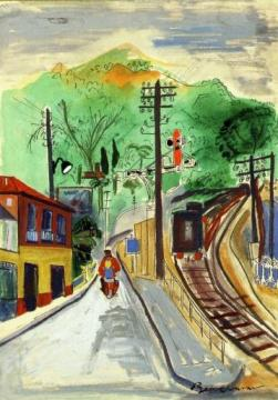 Road to Monaco Artwork by Ludwig Bemelmans