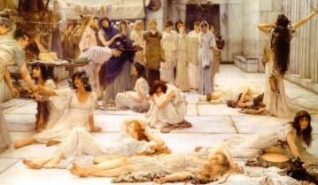 The Women Of Amphissa Artwork by Sir Lawrence Alma-Tadema