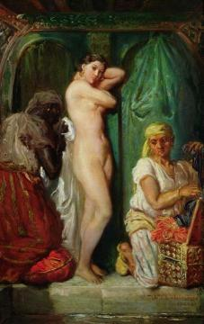 A Bath in the Harem Artwork by Theodore Chasseriau