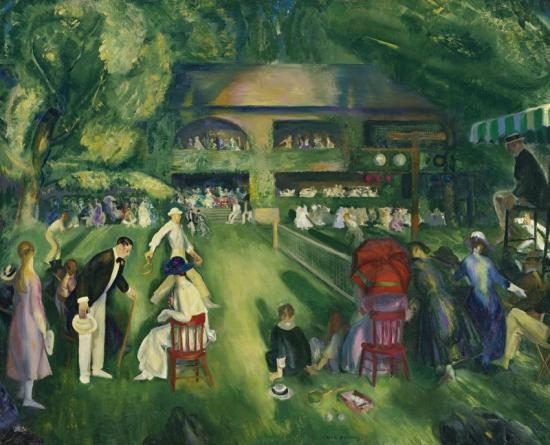 Tennis At Newport Artwork by George Wesley Bellows