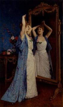 La Toilette Artwork by Auguste Toulmouche