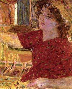 Young Woman Painting Artwork by Pierre Bonnard