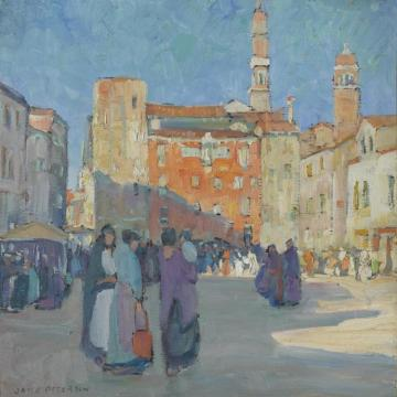Campo Santa Marguerita Artwork by Jane Peterson