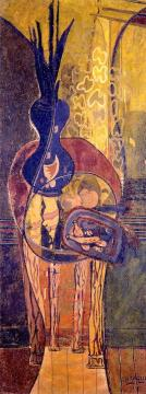 The Pedestal Table Artwork by Georges Braque
