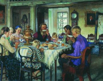 New Owners Artwork by Nikolai Petrovich Bogdanov-belsky