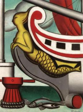 The Mermaid Artwork by Jean Metzinger