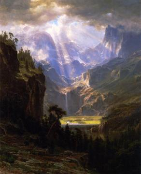 Rock Mountains Artwork by Albert Bierstadt