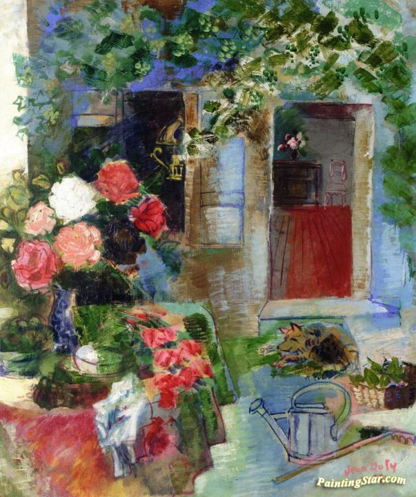 After Gardening Artwork By Jean Dufy Oil Painting Art Prints On