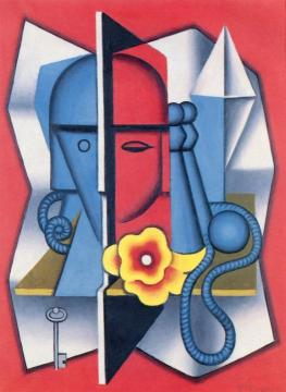 Head and Game of Skittles Artwork by Jean Metzinger