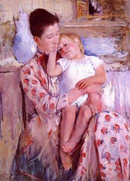 Emmie and Her Child Artwork by Mary Cassatt