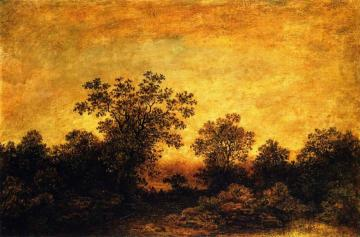 Indian Encampment at Twilight Artwork by Ralph Albert Blakelock