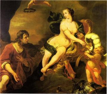 Venus presenting Aeneas with armour from Vulcano's smithy Artwork by Ferdinand Bol
