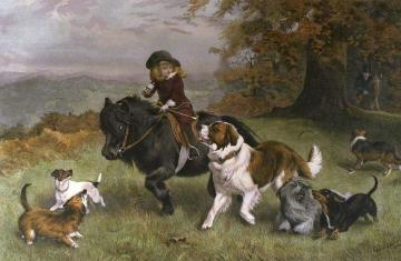 A Scratch Pack Artwork by Charles Burton Barber