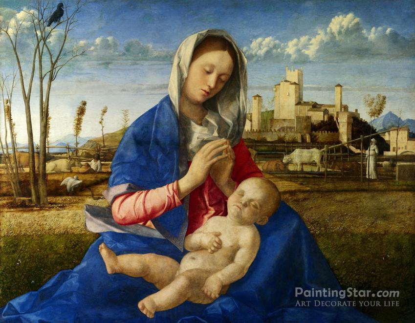 Madonna of the Meadow (Madonna del Prato) Artwork by Giovanni Bellini