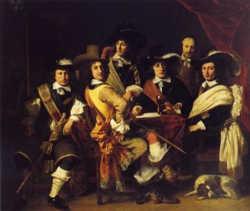 Officers of the militia led by Colonel Govert Suijs Artwork by Ferdinand Bol