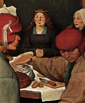 Peasant Wedding (detail) Artwork by Pieter Bruegel the Elder