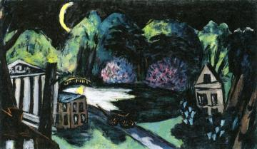Park At Night, Baden-baden Artwork by Max Beckmann
