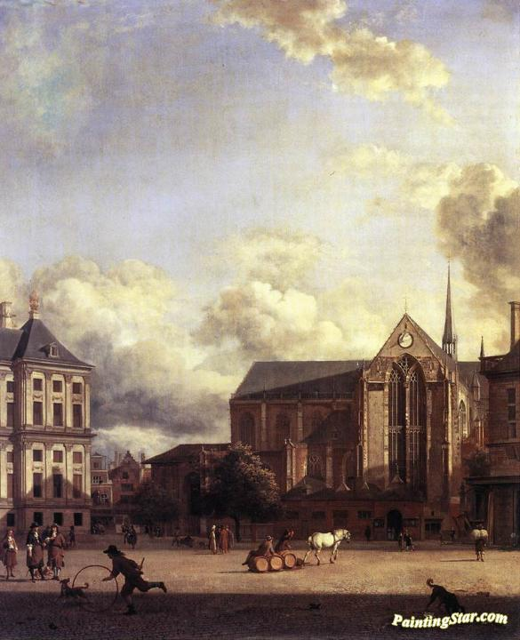 GOUDESTEIN TOWN HALL NETHERLANDS LANDSCAPE PAINTING ART REAL CANVAS PRINT