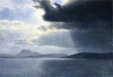 Approaching Thunderstorm On The Hudson River Artwork by Albert Bierstadt