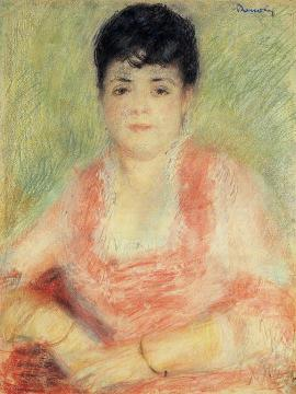 Portrait In A Pink Dress Artwork by Pierre Auguste Renoir