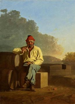 Mississippi Boatman Artwork by George Caleb Bingham