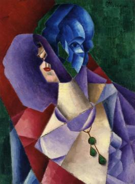 Woman's Head Artwork by Jean Metzinger