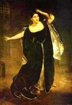 Portrait of the Actress Juditta Pasta as Anne Boleyn Artwork by Karl Pavlovich Bryullov