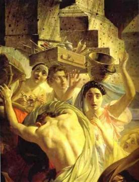The Last Day of Pompeii (detail 1) Artwork by Karl Pavlovich Bryullov