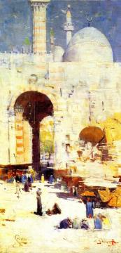 Cairo Street Artwork by Sir Arthur Streeton